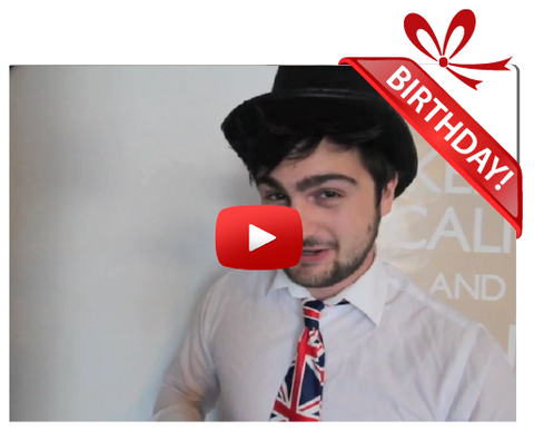 Gigeo® Mr. Britain Personalized Birthday Greetings by Adam Russel