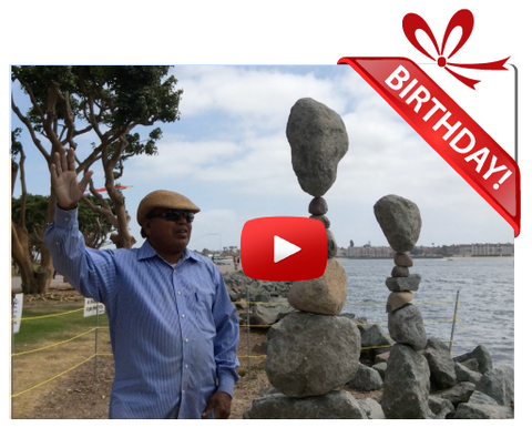 "Gigeo® The Rock Man Personalized Birthday Greetings by Rabindra ""Rabi"" Sarkar"