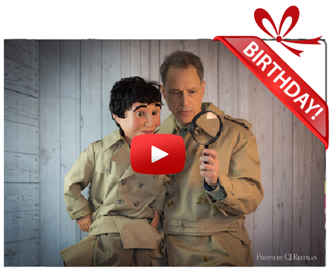 Gigeo® - Personalized Videos - THE DETECTIVES BIRTHDAY VIDEO GREETING - WhoLovesYou.ME - 1
