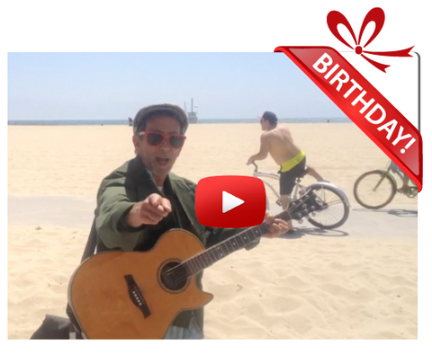 Gigeo® Tropical Guitar Riff Personalized Birthday Greetings by Vinny Caggiano