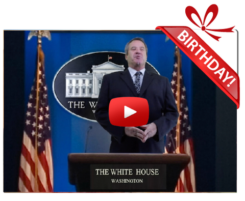 Gigeo® White House News Personalized Birthday Greetings