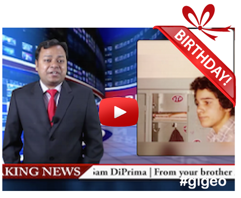 Gigeo® Breaking News Personalized Birthday Greetings
