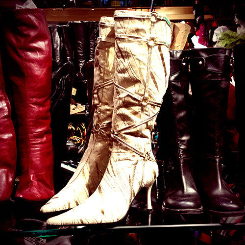 Vintage Boot Sighting at Patricia Field, New York
