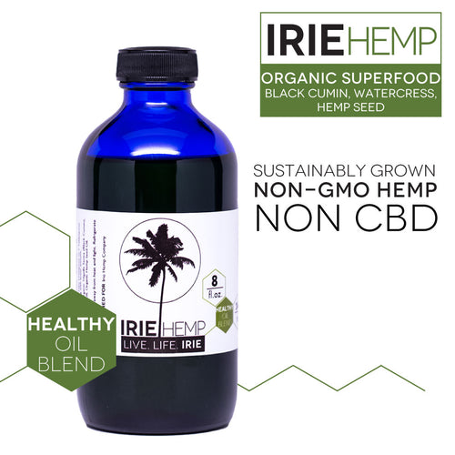 Irie Hemp, Healthy Oil Blend, 8 fl oz (236 ml) in Dark Glass Bottle