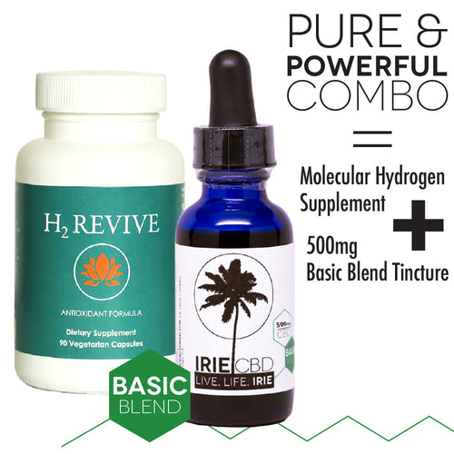 H2 Revive + IrieCBD 500MG Pure and Powerful Tincture Combo
