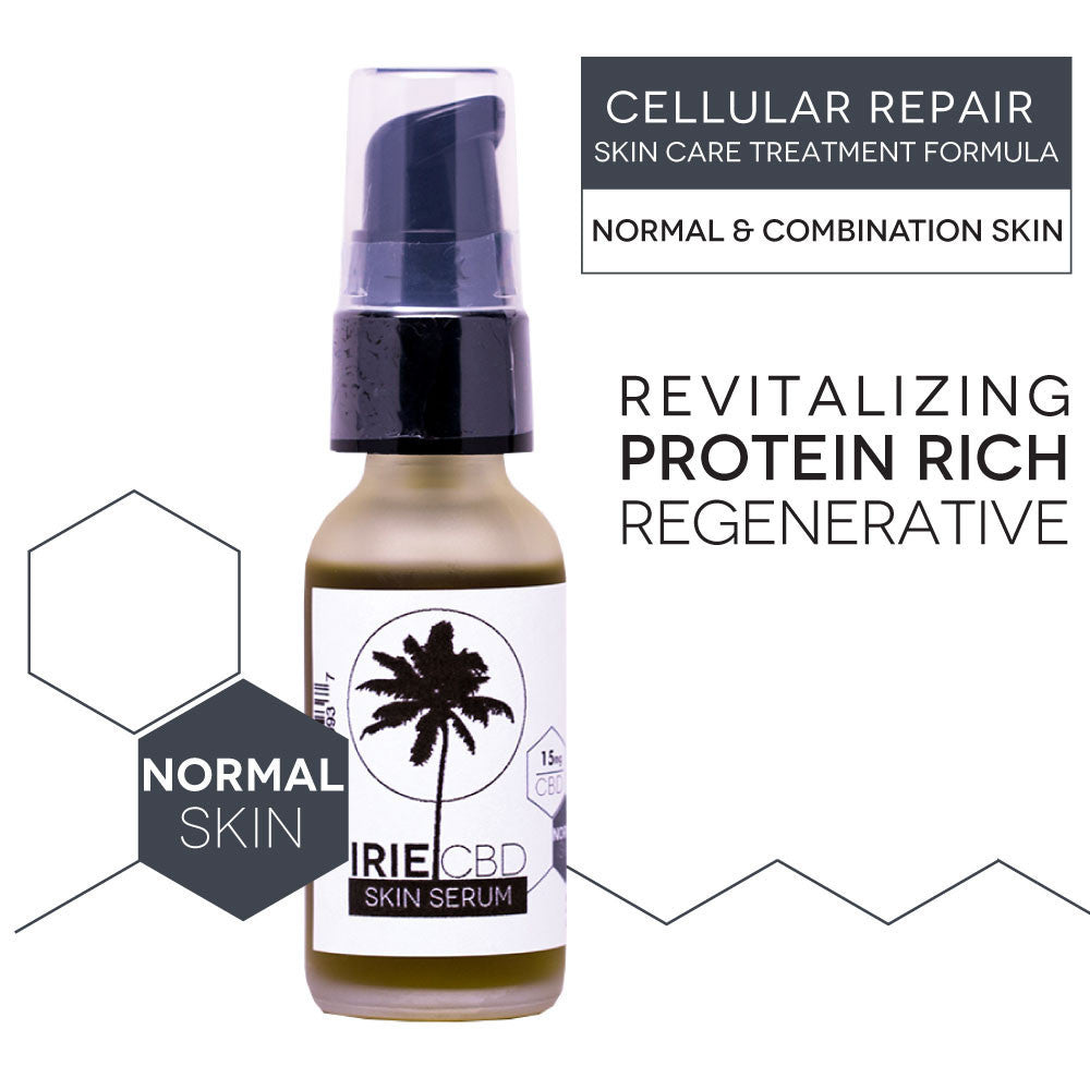 IrieGLO CBD Cellular Repair Serum - Revitalizing Normal and Combination Skin