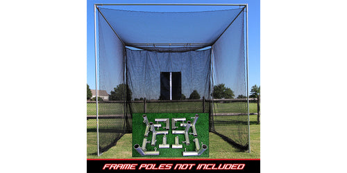 Cimarron Sports - 10 x 10 x 10 Masters Golf Net with Frame Corner Kit