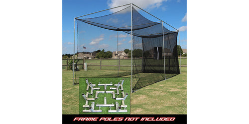 Cimarron Sports - 20 x 10 x 10 Masters Golf Net with Frame Corner Kit