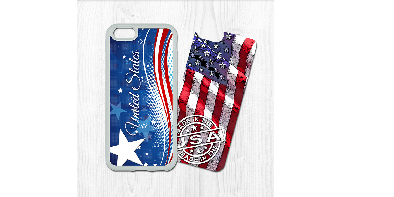 Swaponz Patriotic USA iPhone Case
