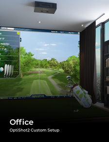 OptiShot2 Golf-In-A-Box Setup in Office