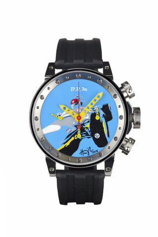 "2 - Hunziker BRM Art Watch - Prototype 2 - ""Chasing Bira"""