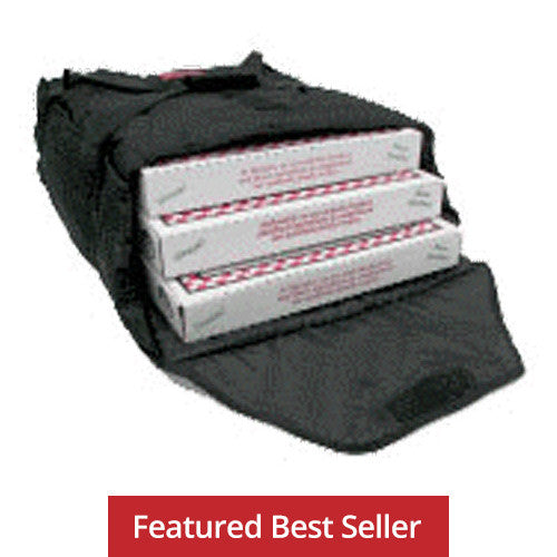 "AB318 - Case of 10 Bags - Economical Pizza Bag - Carries three 18"" or four 16"" (21""L x 19½""W x 9""H)"