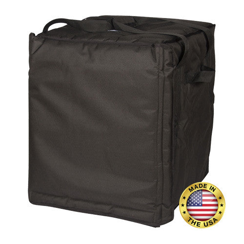 "BG222 - Premium Pizza Bag - Carries ten 18"" without frame or ten 16"" with frame (18¾""L x 18""W x 23""H)"