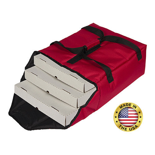 "TP160 - Premium Pizza Bag - Carries two 16"" or three 14"" (19""L x 17¼""W x 7¼""H)"