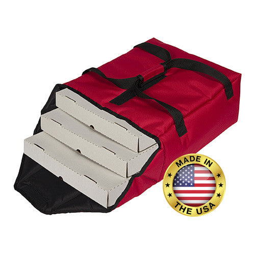 "TP318 - Premium Pizza Bag - Carries three 18"" or four 16"" (21""L x 19½"" W x 9""H)"