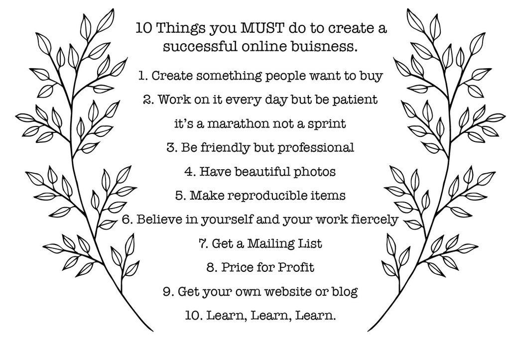 10 Things you must do to create a successful online craft business