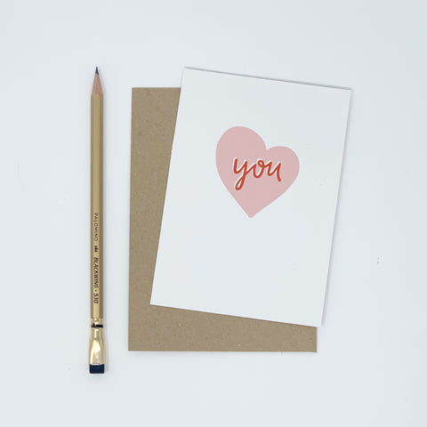 You - Heart Card - Lomond Paper Co.