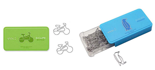 Lomond Paper Co. - Midori Bike & Penguin paper Clips