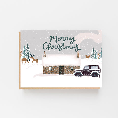 Bothy in the Snow - Merry Christmas Cards