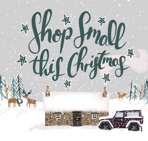 Bothy In the Snow - Shop Small this Christmas