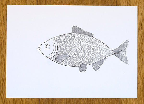 Lomond Paper Co. - 15 Day Drawing Challenge - (a fish)