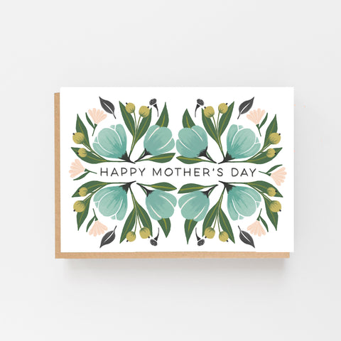 Happy Mother's Day - Green Floral Design