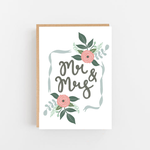 Mr & Mrs Wedding card