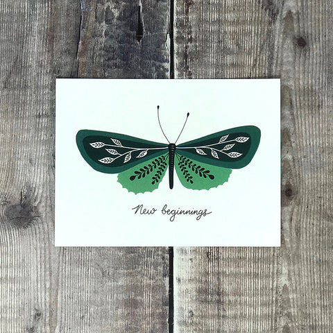 new beginnings butterfly card