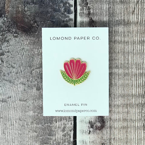 Folk Flower Pin - Lomond Paper Co.