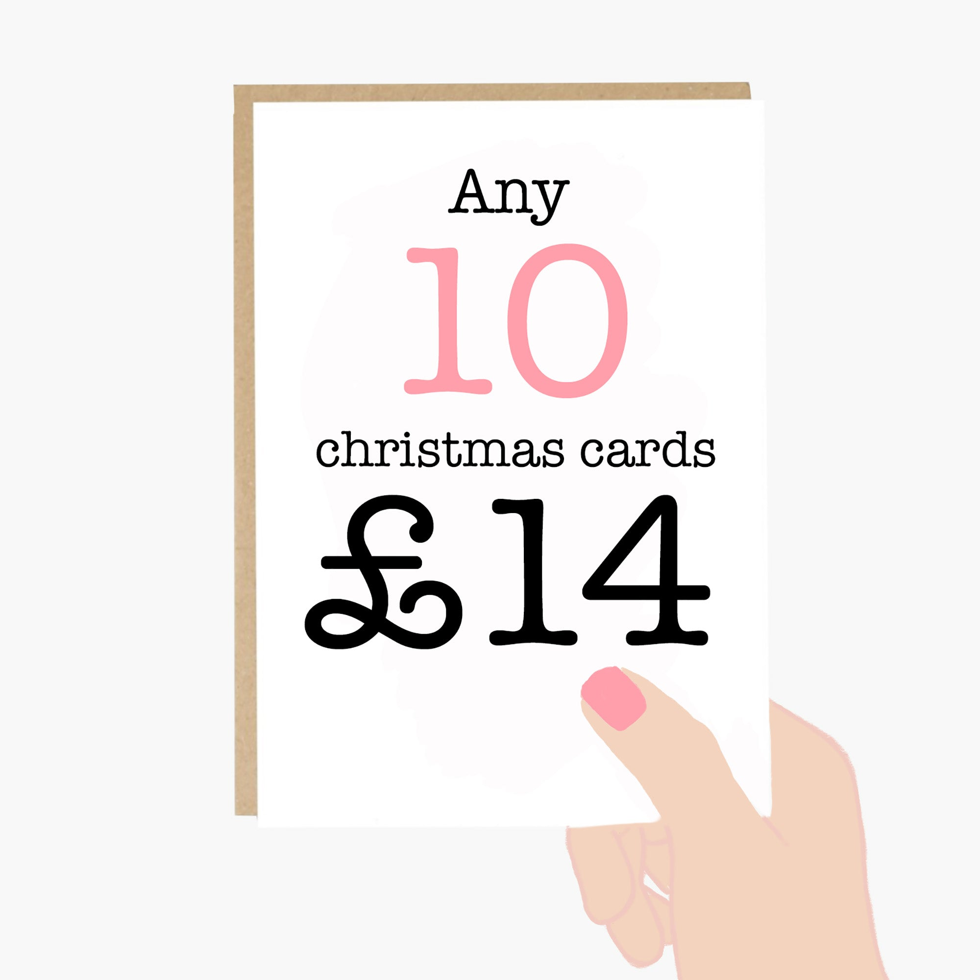Set of 10 Mix & Match Christmas Cards