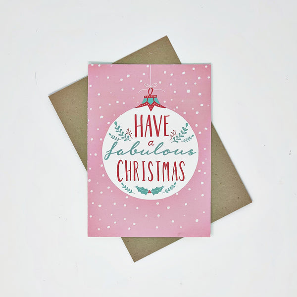 Have a Fabulous Christmas - 8 Cards