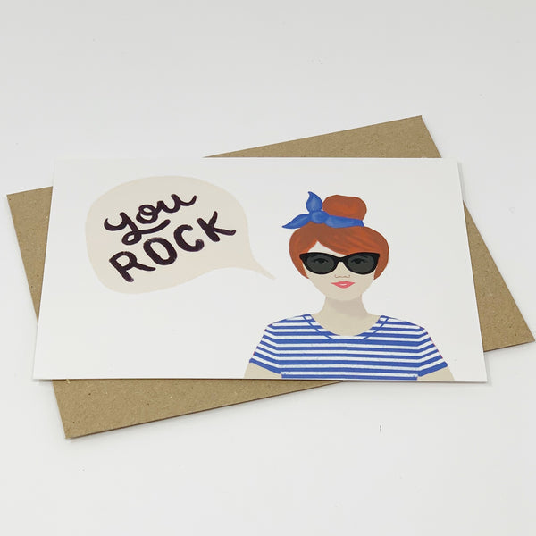 You Rock Card - Lomond paper co.