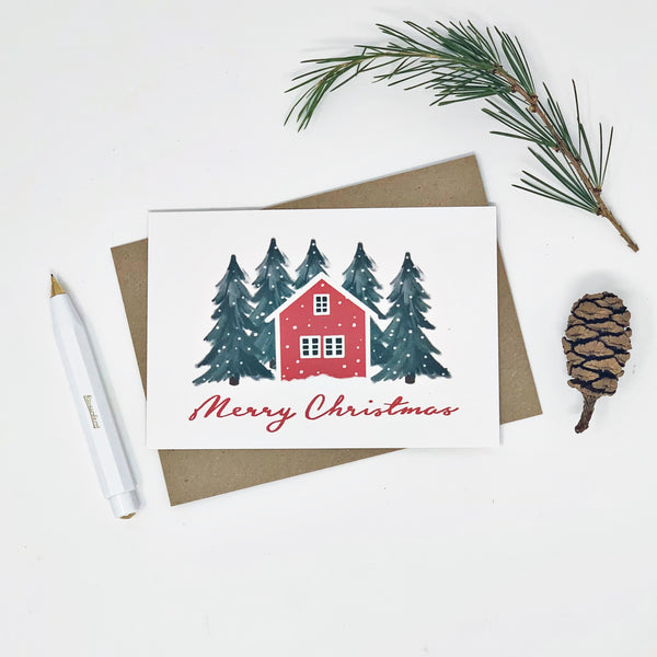 Scandi Houses - Pack of 10 Cards