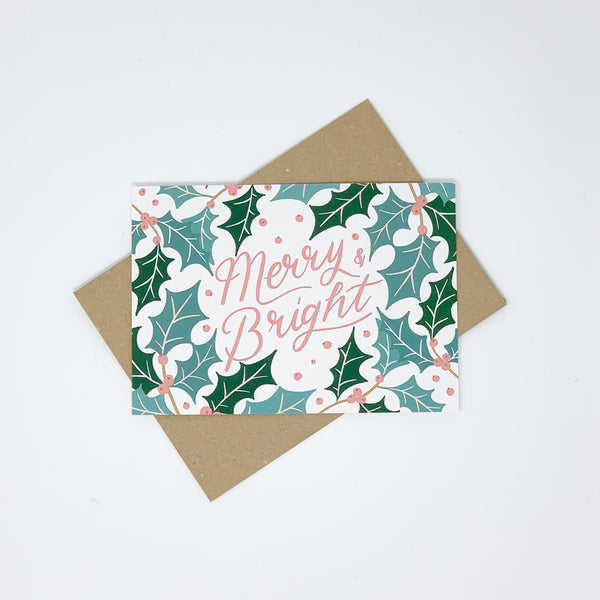 Merry & Bright Christmas Cards - Pack of 8 Cards