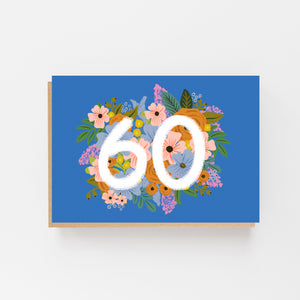 Colourful, Floral 60th Birthday Card