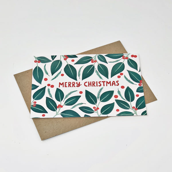 Merry Christmas Berries - Pack of 8 Cards
