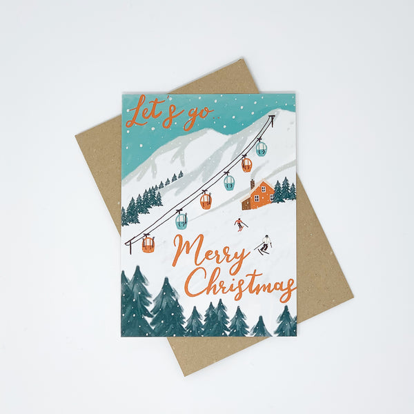 Skiing Christmas Cards - Pack of 8 Cards