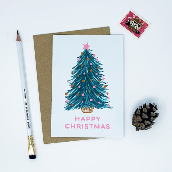Girl Looking for Christmas Tree - Pack of 8 Cards