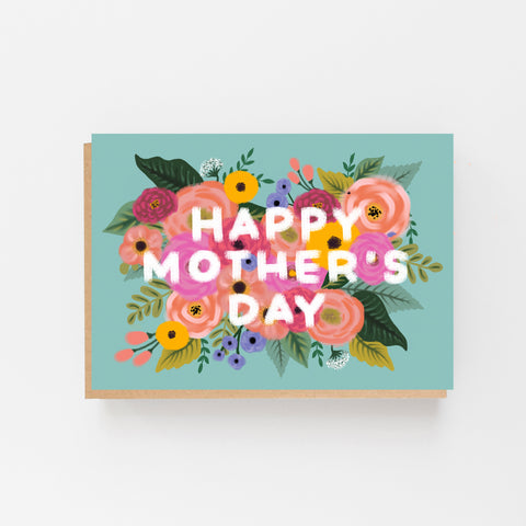 Happy Mother's Day Card - Vintage, Floral Design