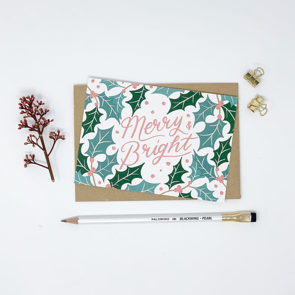 Merry & Bright - Holly - Lomond Paper Co.