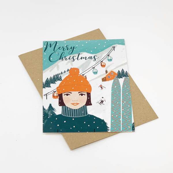 Merry Christmas Ski-ing Card - Lomond Paper Co.