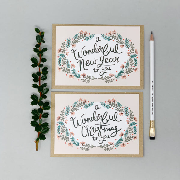A Wonderful New Year To You - Card Set - Lomond Paper Co.
