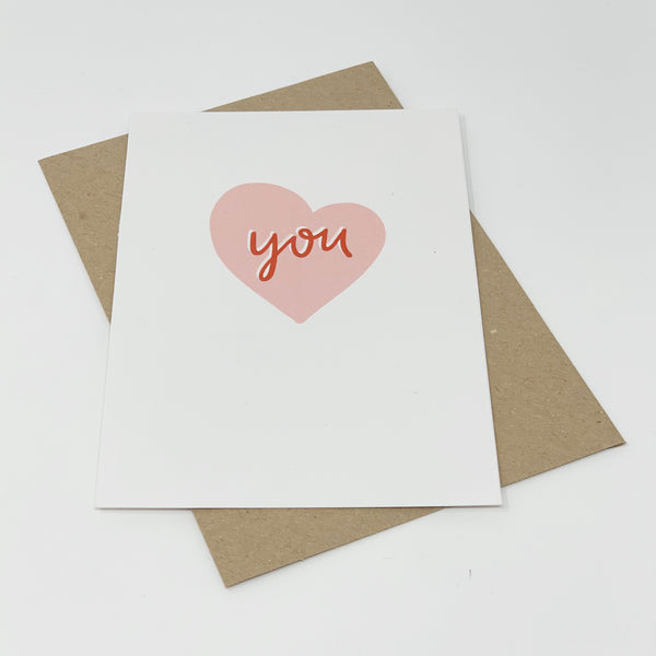 You - Heart Card