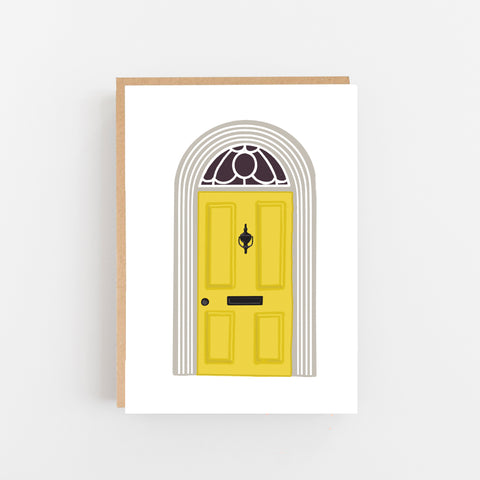 New home yellow door - lomond paper co