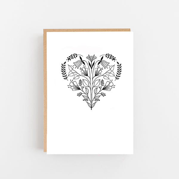 Heart Folk Card
