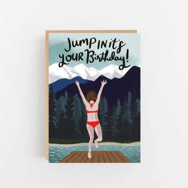 Jump In It's Your Birthday Card