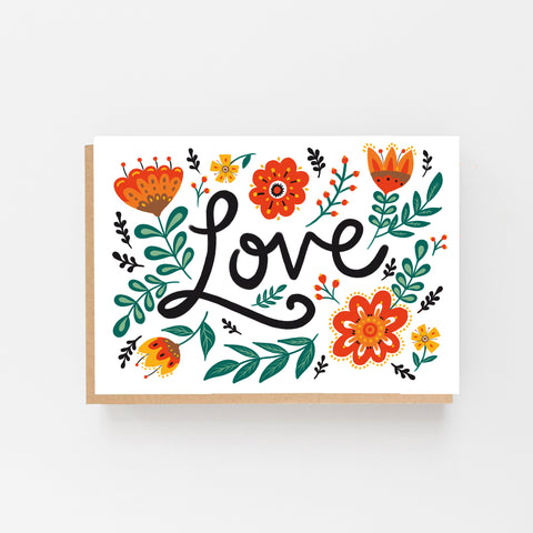Love Folk Card