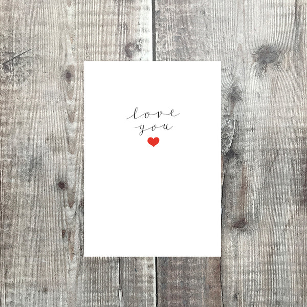 love you card - lomond paper co.