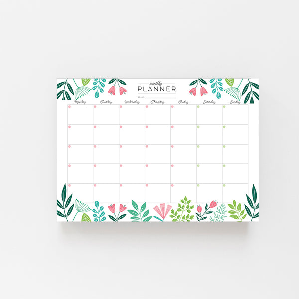 Botanical Monthly Planner - Lomond Paper Co.