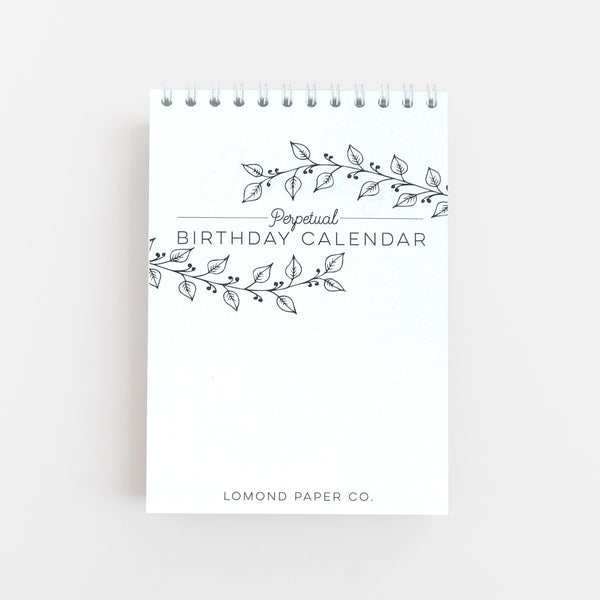 Perpetual Birthday Desk Calendar